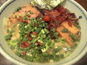 梅じそ塩海老ワンタン麺