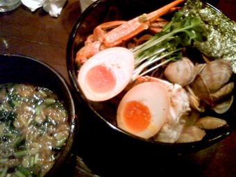 蟹出汁らぁめん(つけ麺・醤油)