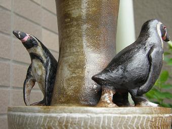 ペンギン花器