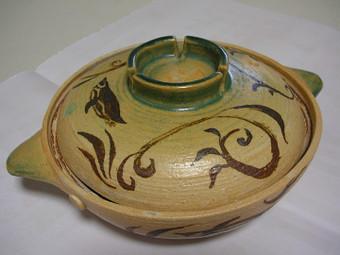 鉄絵織部釉鍋