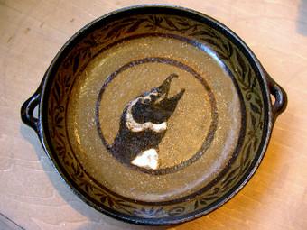ケープペンギンの絵柄の小皿