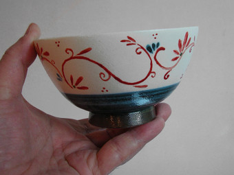色絵茶碗(側面)