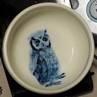 ふくろう染付小鉢