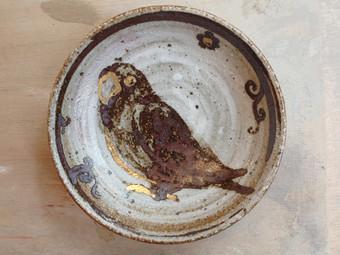 Kozakuraコザクラ鉄絵小皿