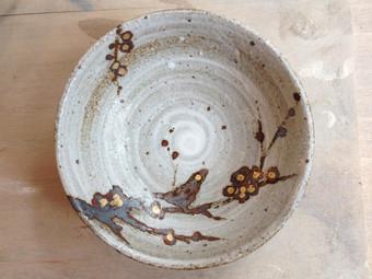 ウグイス鉄絵小皿