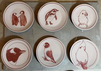 鉄絵の小皿シリーズ
