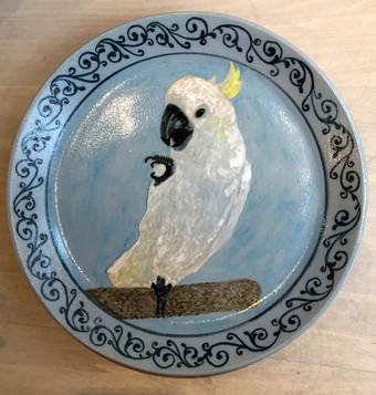 オウム大皿
