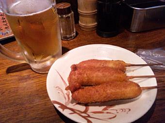 串カツ&生ビール